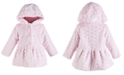 First Impressions Baby Girls Hooded Fur Hearts Coat, Created for Macy's