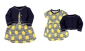 Touched by Nature Organic Cotton Dress and Cardigan Set, Lemons, 12-18 Months