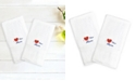 """Linum Home Terry 2-Pack of Hand Towels Embroidered with """"I Love You Mom"""""""