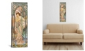 """iCanvas Evening Reverie, 1899 by Alphonse Mucha Wrapped Canvas Print - 36"""" x 12"""""""