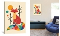 "iCanvas Rainbow Fox by Andy Westface Wrapped Canvas Print - 40"" x 26"""
