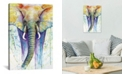 """iCanvas Elephant Colors by Michelle Faber Wrapped Canvas Print - 40"""" x 26"""""""