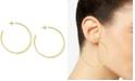Essentials Flattened C-Hoop Earrings
