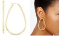 Macy's Polished Teardrop Hoop Earrings in 14k Gold-Plated Sterling Silver