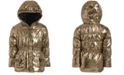 S Rothschild & CO Toddler Girls Hooded Metallic Bows Jacket