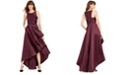 Adrianna Papell Petite High-Low Mikado Gown
