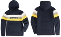 Levi's Big Boys Colorblocked Stripe Fleece Logo Hoodie