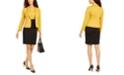Kasper Shawl-Collar Ponte-Knit Jacket & Colorblocked Sheath Dress