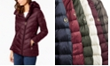 Michael Kors Asymmetrical Hooded Packable Down Puffer Coat, Created for Macy's