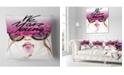 """Design Art Designart Young Girl Sucking Lollipop Modern Portrait Throw Pillow - 16"""" X 16"""""""