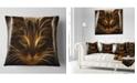 "Design Art Designart Glowing Fractal Cat Illustration Animal Throw Pillow - 18"" X 18"""