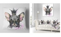 "Design Art Designart Cute Black Dog With Crown Animal Throw Pillow - 16"" X 16"""