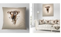 "Design Art Designart Mouflon Abstract Walking Animal Throw Pillow - 16"" X 16"""