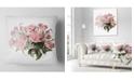"Design Art Designart Pink Rose Bouquet Watercolor Floral Throw Pillow - 18"" X 18"""