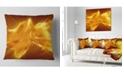 "Design Art Designart Plasmas And Liquid With Fiery Shine Abstract Throw Pillow - 18"" X 18"""