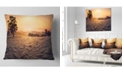 "Design Art Designart Field Of Dreams Panorama Landscape Printed Throw Pillow - 18"" X 18"""