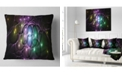 "Design Art Designart Multi Color Fractal Space Circles Abstract Throw Pillow - 18"" X 18"""