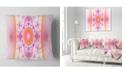 "Design Art Designart Cabalistic Pink Fractal Design Abstract Throw Pillow - 18"" X 18"""