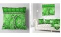"""Design Art Designart Green Living Cells Fractal Design Abstract Throw Pillow - 18"""" X 18"""""""