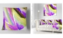"Design Art Designart Purple Vibrant Brushstrokes Abstract Throw Pillow - 18"" X 18"""
