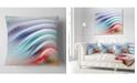 "Design Art Designart Water Ripples Rainbow Waves Abstract Throw Pillow - 18"" X 18"""
