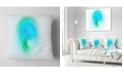 """Design Art Designart Green Luminous Misty Sphere Abstract Throw Pillow - 18"""" X 18"""""""