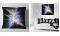 """Design Art Designart Light Blue Spectrum Of Light Abstract Throw Pillow - 16"""" X 16"""""""