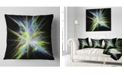 """Design Art Designart Yellow Blue Chaos Multicolored Rays Abstract Throw Pillow - 18"""" X 18"""""""