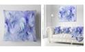 """Design Art Designart Light Blue Fractal Glass Texture Abstract Throw Pillow - 18"""" X 18"""""""