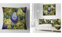 "Design Art Designart Yellow Fractal Exotic Planet Abstract Throw Pillow - 16"" X 16"""