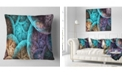 """Design Art Designart Colorful Dramatic Clouds Abstract Throw Pillow - 18"""" X 18"""""""