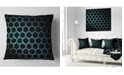 """Design Art Designart Honeycomb Fractal Gold Hex Pixel Abstract Throw Pillow - 16"""" X 16"""""""