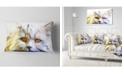 "Design Art Designart Cute White Cat Fractal Illustration Animal Throw Pillow - 12"" X 20"""