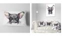 "Design Art Designart Cute Watercolor Puppy Dog Animal Throw Pillow - 12"" X 20"""