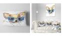 "Design Art Designart Cute Puppy With Blue Glasses Animal Throw Pillow - 12"" X 20"""