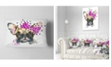 "Design Art Designart Fashionable French Bulldog Animal Throw Pillow - 12"" X 20"""