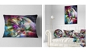 """Design Art Designart Horse Over Colorful Abstract Image Animal Throw Pillow - 12"""" X 20"""""""