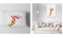 "Design Art Designart Colorful Bell Flower Sketch Watercolor Floral Throw Pillow - 12"" X 20"""