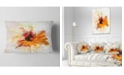 "Design Art Designart Sunflower Drawing With Paint Splashes Floral Throw Pillow - 12"" X 20"""