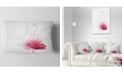 "Design Art Designart Rose Flowers Sketch With Color Splashes Floral Throw Pillow - 12"" X 20"""
