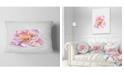 """Design Art Designart Cute Watercolor Pink Rose Sketch Flowers Throw Pillowwork - 12"""" X 20"""""""