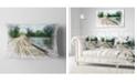 "Design Art Designart Bridge Over Waterfall In Forest Landscape Printed Throw Pillow - 12"" X 20"""