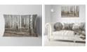 """Design Art Designart Beautiful Dense Birch Forest View Modern Forest Throw Pillow - 12"""" X 20"""""""