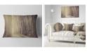"Design Art Designart Path In The Foggy Fall Forest Modern Forest Throw Pillow - 12"" X 20"""