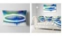 """Design Art Designart Beautiful Blue Northern Lights Abstract Throw Pillow - 12"""" X 20"""""""
