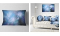 "Design Art Designart Perfect Light Blue Starry Sky Abstract Throw Pillow - 12"" X 20"""