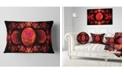 "Design Art Designart Red Exotic Fractal Pattern Abstract Throw Pillow - 12"" X 20"""