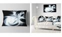 "Design Art Designart White Symmetrical Fractal Flower Abstract Throw Pillow - 12"" X 20"""