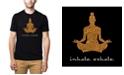 LA Pop Art Men's Premium Word Art T-Shirt - Inhale Exhale