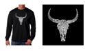 LA Pop Art Men's Word Art Long Sleeve T-Shirt - Texas Skull